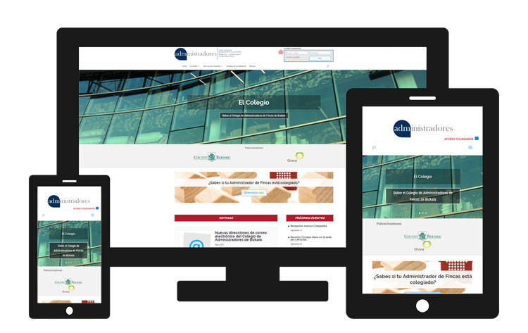 Nueva web del Colegio de Administradores de Bizkai