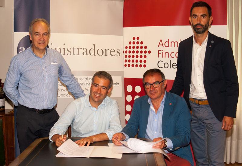 El Colegio de Administradores de Bizkaia firma acuerdo con la empresa Giroa Veolia