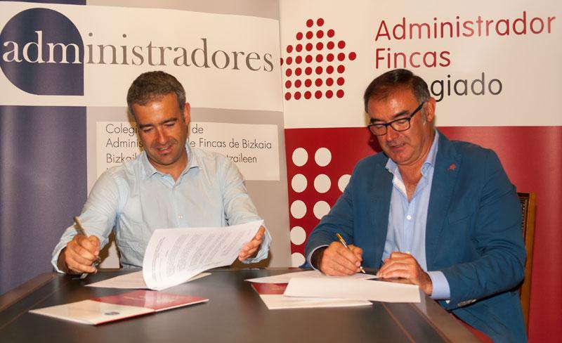 Firma de Adminsitradores de Fincas de Bizkaia y Veolia