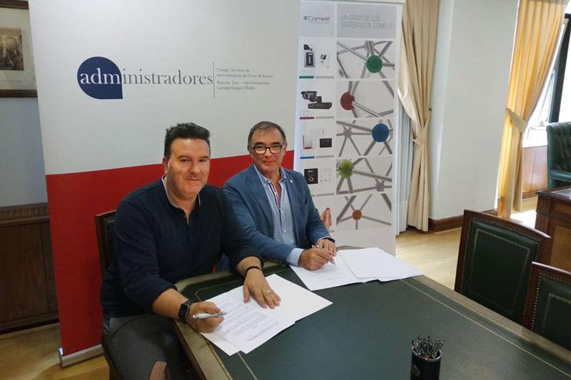 El Colegio de Administradores de Bizkaia firma acuerdo con la empresa Comelit Group
