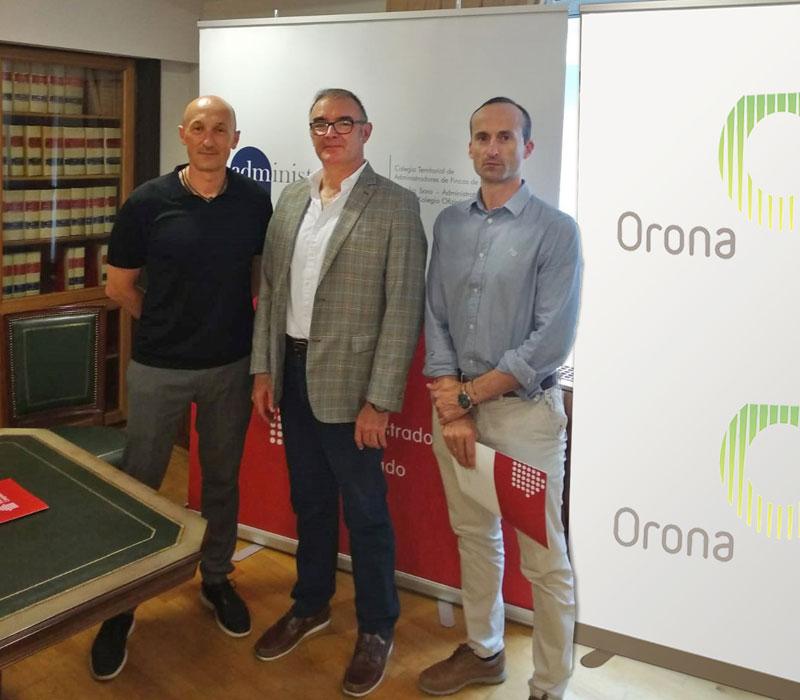 Firma de Caf Bizkaia con Orona