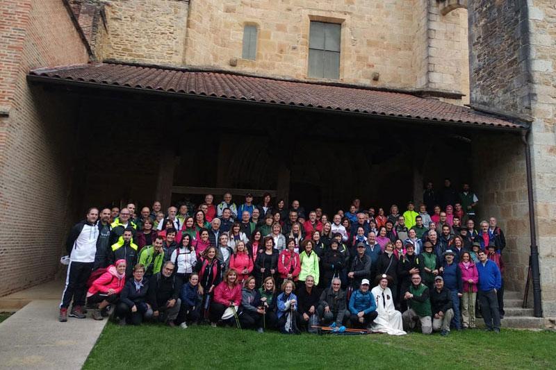 Los administradores de fincas colegiados recorren el Camino de Santiago por tierras bizkainas