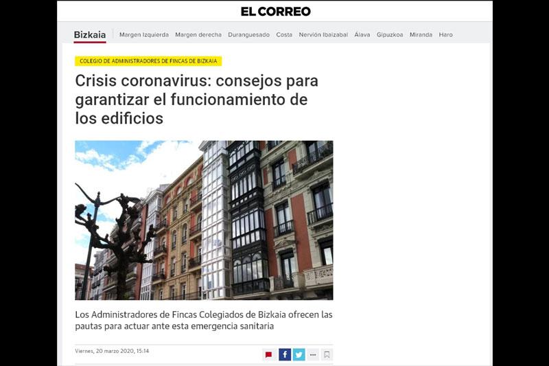 CRISIS DEL CORONAVIRUS: Consejos para garantizar el funcionamiento de los edificios