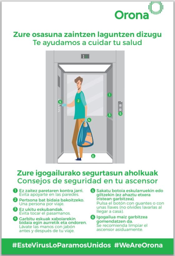 Consejos para utilizar el ascensor