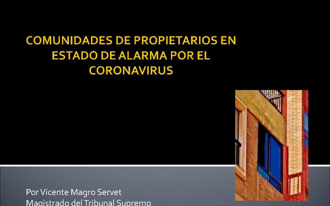 Las Comunidades de Propietarios en «estado de alarma»por el Coronavirus