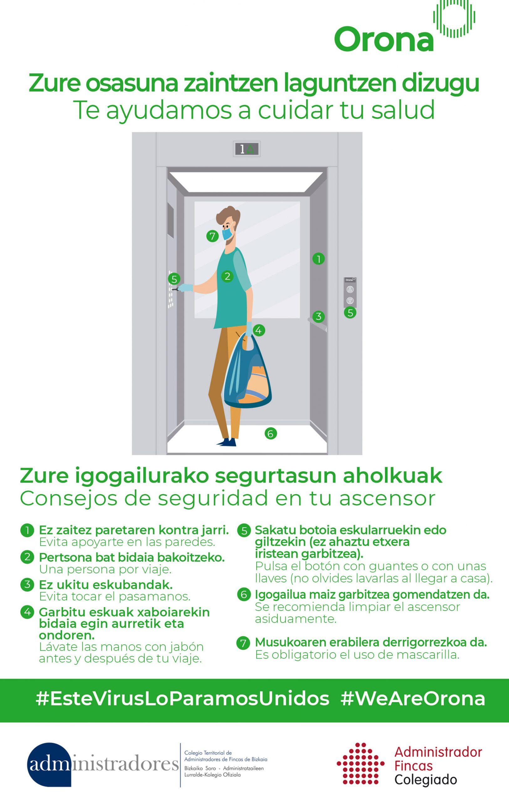 cómo usar el ascensor